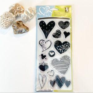 Inkadinkado Hearts Clear Stamps